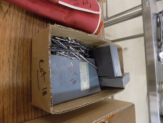 Box of Misc. Drill Indexes & Bits
