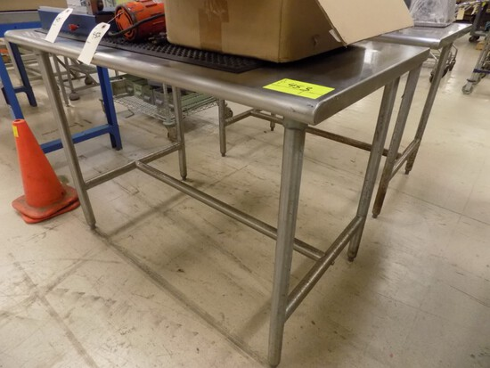 30''x48''x35'' Tall Stainless Steel Work Table