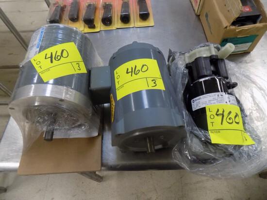 (2) Elec.Motors and Pump - 1/2 hp 3 ph, 1/3 hp 3 ph & Single Phase Pump