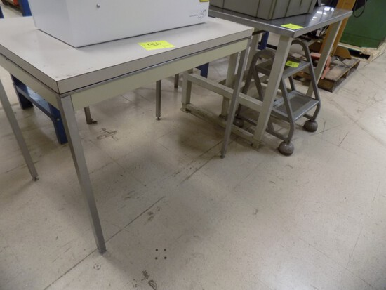 42 x 30 Stainless Top Adjustable Height Table & 36 x 24 Work Table