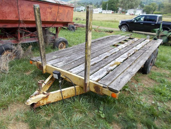 Yellow T/A Equipment Trailer, 16' Long, NO TITLE / BOS ONLY