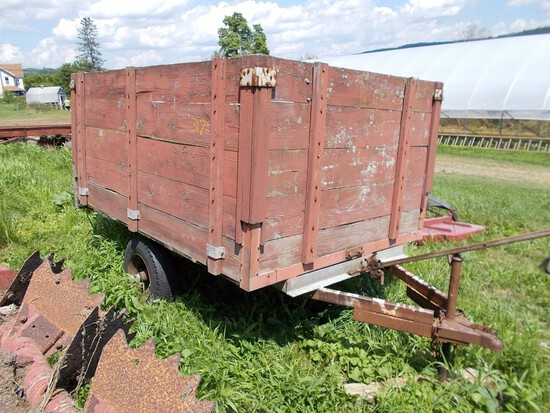 8' Red Dump Wagon / Trailer - NO TITLE / BOS ONLY