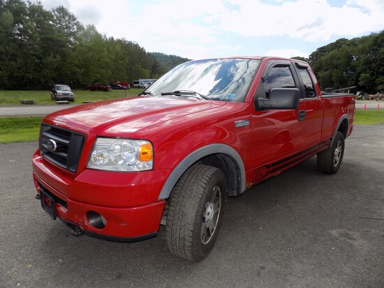 '06 Ford F-150 Ext. CAb, 6' Box FX4, Off-Road Package, Auto, Red, 160,334 M