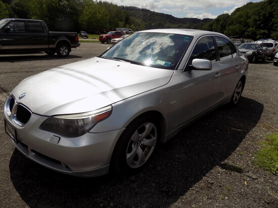 '06 BMW 525i, Silver, Auto, Leather, Sunroof, 159,765 Miles  VIN#:WBANE5359
