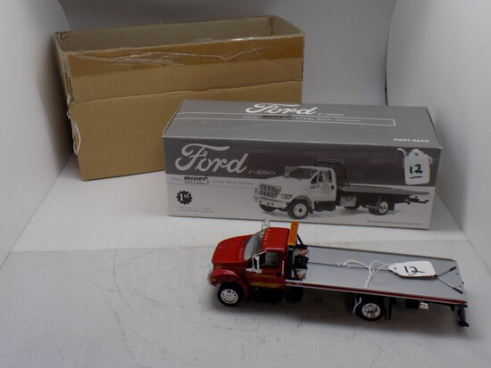 1st Gear Ford F-650 w/ Miller Industries Slide Back Carrier in 1:34 Scale,