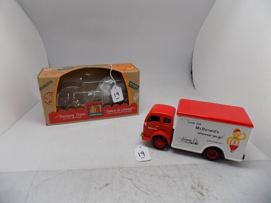 McDonalds 1949 Volvo Delivery Truck, Diecast Bank, Looks About 1:34 Scale,