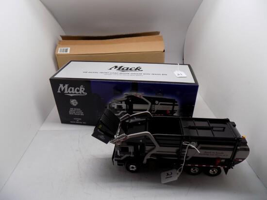 1st Gear Mack MR Model Front Load Refuse Havier with Trash Bin, Looks 1:34