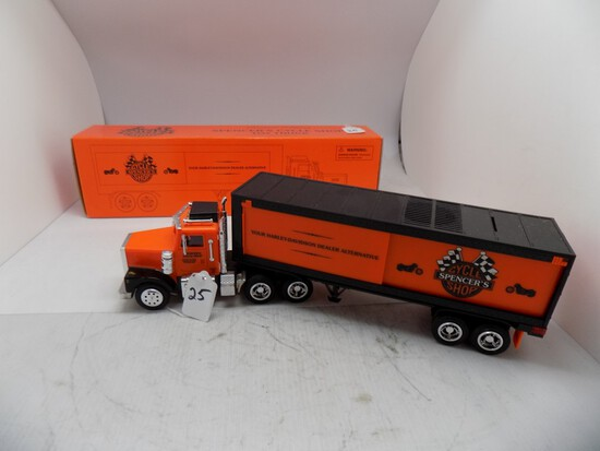 Limited Edition Spencers Cycle Shop Toy Truck, 1:34 Scale, Plastic Tractor