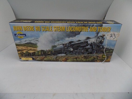 John Deere HO Scale Steam Locomotive and Tender by Athearn