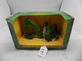John Deere 3 Pt Hitch Backhoe Attachment in 1/16 Scale by Ertl, 12196G