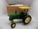 John Deere Tractor w/Yellow Canopy in 1/16 Scale, Not sure of Make, ''Made