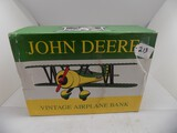 John Deere Vintage Airplane Bank ''Bi-Plae'' by Spec Cast 1993