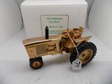 Gold Plated John Deere Tractor in 1/16 Scale, Box Says, ''7th Formosa Toy S