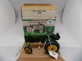 John Deere Model ''M'' Tractor in 1/16 Scale by Spec Cast, Plow City Toy Sh