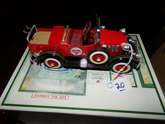 Conoco Fire Truck  1935 Gendron Pedal Car, Chrome Is Faded, Was Part Of A S