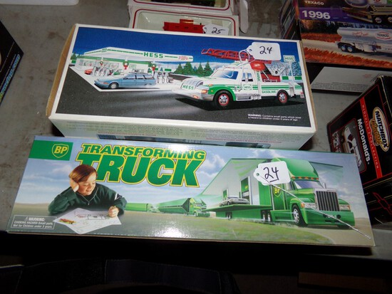 1994 Hess Rescue Truck And A BP Transforming Truck - Transforms Into A BP S