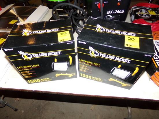 (2) NEw Yellow Jacket 1500 Lumens LED Work Lights (2 x Bid Price)