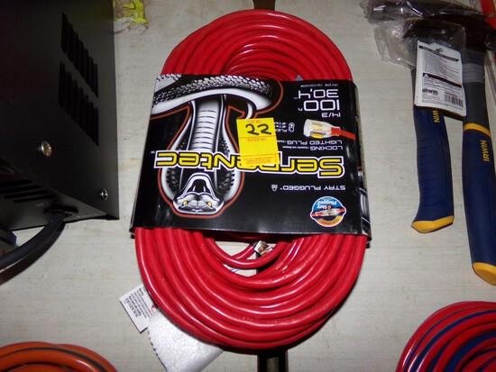 Serpentec 100' Locking, Lighted Ext. Cord