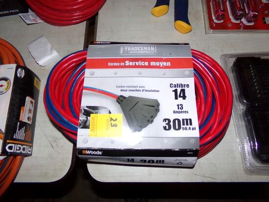 Woods 98' Ext. Cord w/3-Way Plug