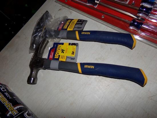 (2) New Irwin 16 oz. Claw Hammers (2 x Bid Price)