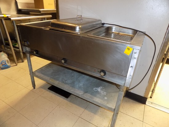 Eagel 3-Pan Steam Table / Warmer, Galv. / S, 48'' Wide x 23'' Deep, 35'' Hi