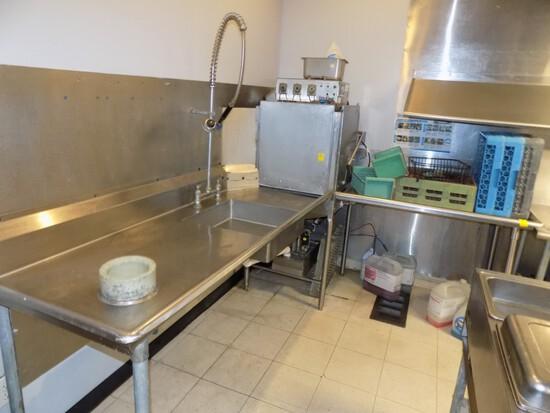 Valu-Clean VC-1000LT Corner Dishwasher System, 5940 Hrs./Washes w/ 72'' x 3