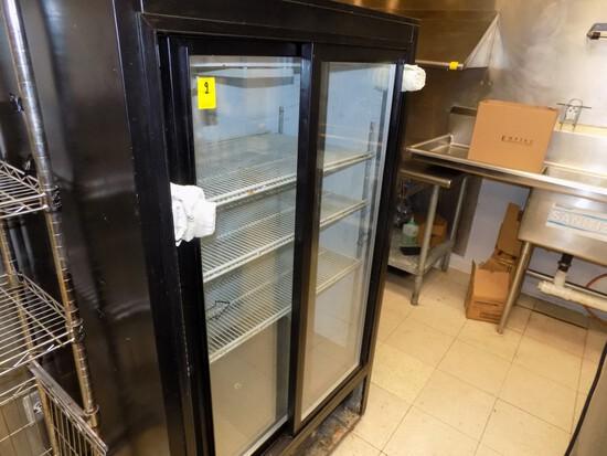 Beverage Aire Sliding Dbl. Glass Door Cooler, 36'' Wide, 24'' Deep, 62'' Ta