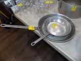 (2) Commercial Aluminum Frying Pans - Big is 14'', Smaller is 10''