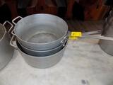 (3) Aluminum Pots