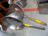 (2) Strainers - (1) Looks Like Fryer Scoop, Other Looks Like Rinser