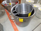 (2) Stainless Stock Pots & Mis-Matched Lid