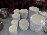 Large Group of Ceramic Dining Dishes, Plates, Platters, Saucers, Soup / Sal
