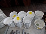 Group of Soup Bowls, Cup Size & French Onion Soup Crocks (White)