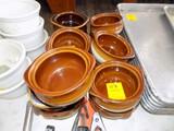 (13) Brown Soup Crocks