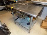 SS Work Table w/ Bottom Shelf, 36''W x 30'' Deep w/ Drawer
