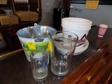 (1) Metal Bud Light Lime Bucket, (3) Plastic Coors Light Buckets, (4) Coors