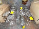 Group of Asst. Glasses - Wine, Martini, Mararita & Whiskey Glasses