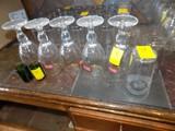 (5) Stemmed Stella Artois Glasses, (2) Green Jager Shot Glasses & (3) Rosco