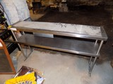 2-Tier Stainless Overhad Shelf, 48'' x 10'' Wide