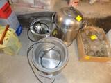 (2) Food Warmers & Stainless Steel Coffee Maker
