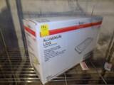 Box of Sysco Full Size Flat Metal Aluminum Lids