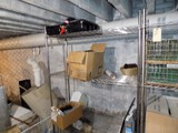 4' x 18'' x 75'' Tall 4 Tier Stainless Wire Shelf in Back Room