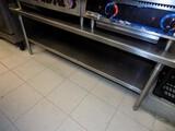 SS Grille Table w/ Bottom Shelf, 62'' Wide, 24'' Deep x 24'' Tall