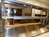SS 2-Tier Food Shelf w/ (2) APW Elec. Food Warmer Lights (On Top Of Sand. U