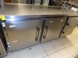 Migoli 3-Door SS Cooler / Wash Top w/ SS Counter Top, 3-Dr. Bottom Cooler,