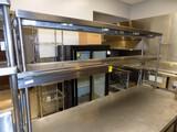 SS 2-Tier Food Shelf w/ (2) Elec. Food Warmer Lights, 72'' W x 12'' Deep x