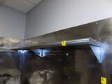 SS Wall Shelf - 72'' Wide x 12'' Deep, Bull Nosed