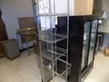 SS Wire Shelf Set w/ (4) Shelves & Drawer, 18'' x 14'' x 73''