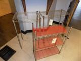 (3) Small SS Wire Shelf Sets - (1) 10'' x 24'' x 30'' 3-Shelf, (1) 12'' x 2