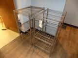 (2) SS Wire Shelf Sets - 2-Shelf, 24'' x 18'' x 36'' Tall (2x Bid Price)